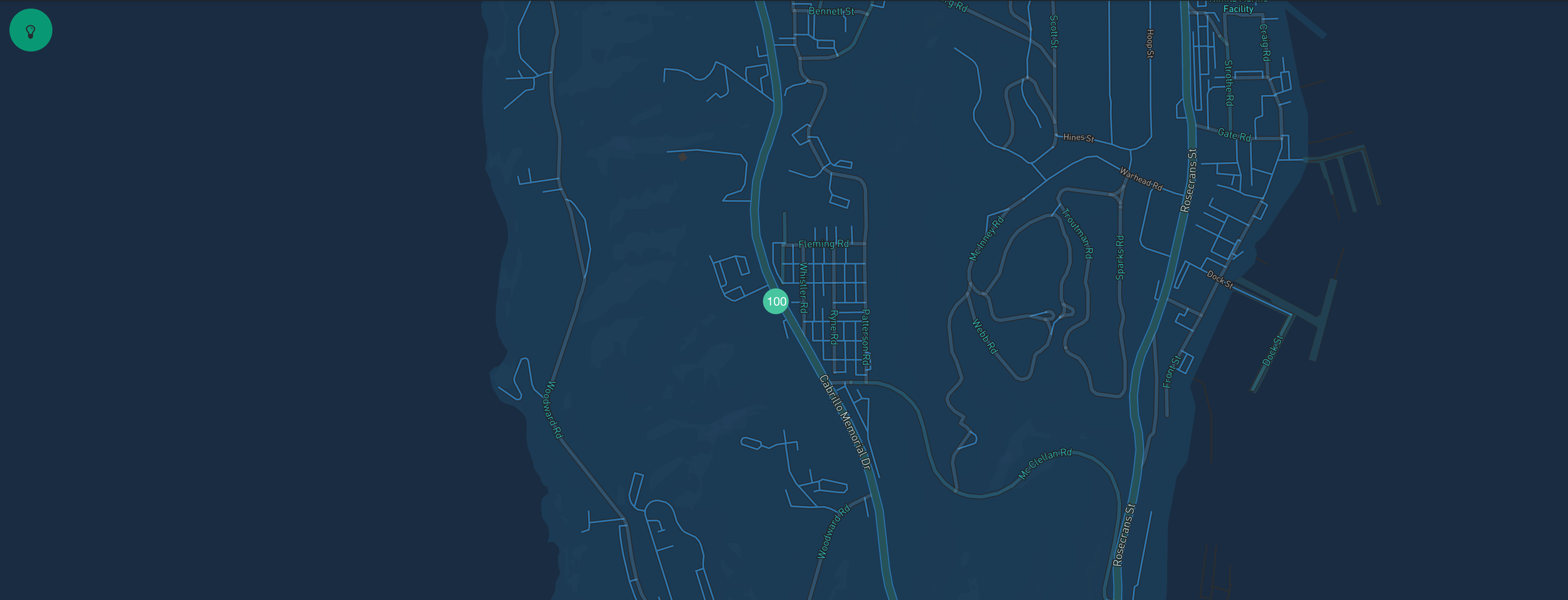 geohash query result map